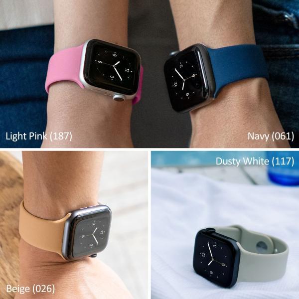 アップルウォッチ バンド Apple watch バンド ベルト シリーズ5,4,3,2,1 対応 パーツ付 シリコン 38mm 40mm 42mm 44mm SILICONE FOR AP 2|mano-a-mano|05