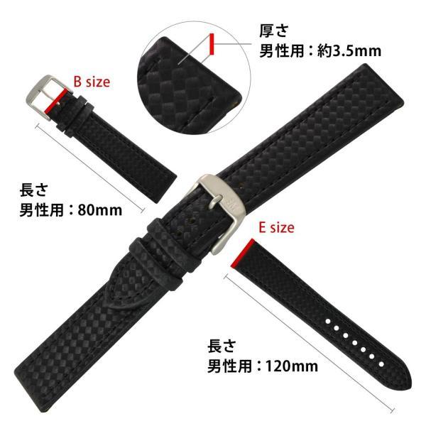 時計 ベルト 腕時計ベルト バンド ラバー カーボン型押し 生活防水 MORELLATO モレラート CAPOEIRA カポエイラ X4907977 18mm 20mm 22mm|mano-a-mano|03