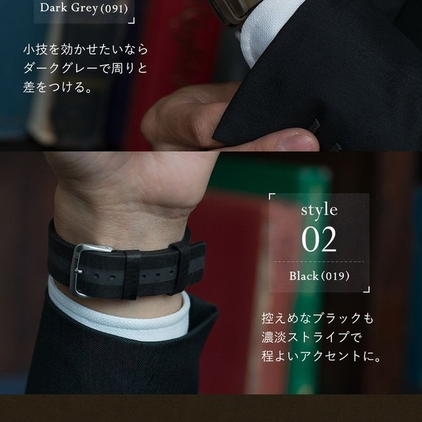腕時計ベルト バンド 交換 牛革 カーフ メンズ 22mm 20mm MORELLATO VERMEER X5044C46 mano-a-mano 08