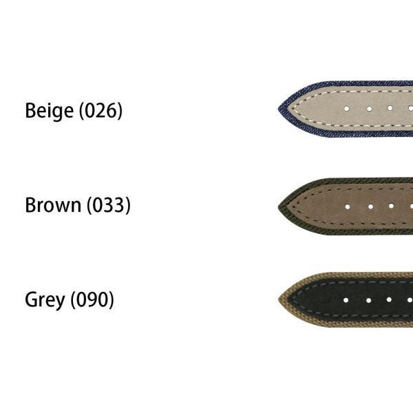 腕時計ベルト バンド 交換 ファブリック 牛革 22mm 20mm MORELLATO VECELLIO X5332C38|mano-a-mano|02