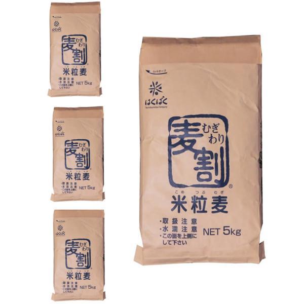 【事業所配送(個人宅不可)】 ★業務用★米粒麦 5kg x 4袋