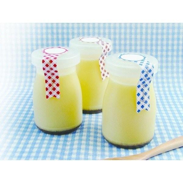 ● ミルクボトル型フタ付デザートカップ 3セット入 100円均一 100均一 100均