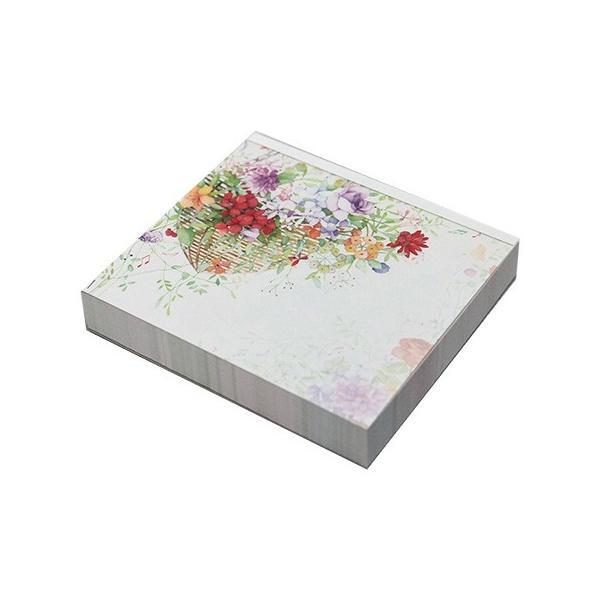 ブロックメモ ミュージックと花 4柄120枚 WP-071 Frontia 4冊までネコポス便可能 M在庫-2-C4