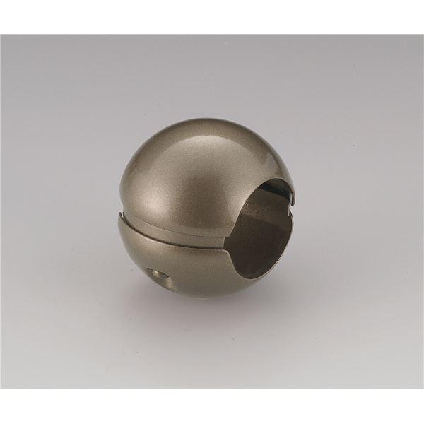 〔10個セット〕階段手すり滑り止め 『どこでもグリップ』ボール形 亜鉛合金 直径35mm アンバー シロクマ 日本製