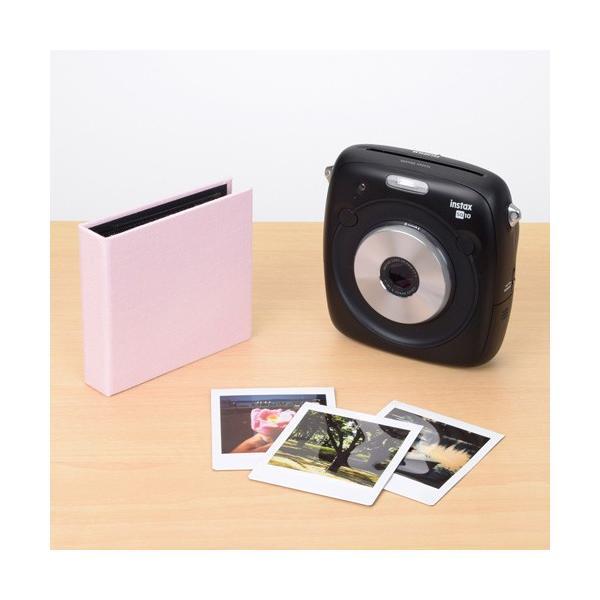 エツミ フォトアルバム エポカ チェキスクエア対応 20枚用 ピンクVE-5503