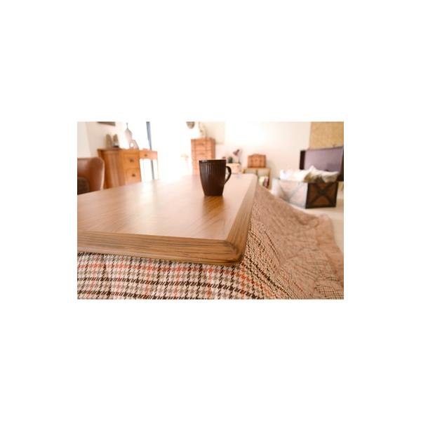 こたつ 長方形 テーブル 120×54  家具調こたつ  東谷 AZUMAYA  オズKT-103OAK|maone|05