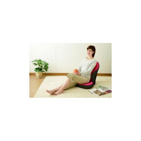 美姿勢習慣 ココア 骨盤矯正 クッション 座椅子 (姿勢矯正 座椅子)|maone|05