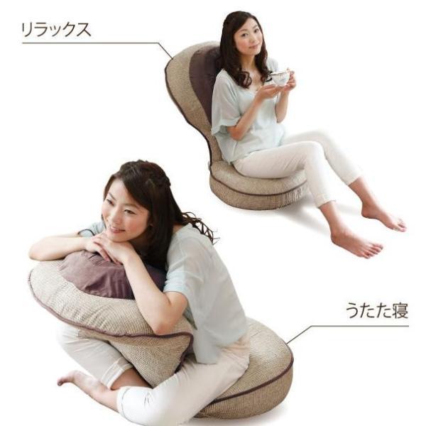 座椅子 腰痛 ゆったり 背筋がGUUUN美姿勢座椅子 エグゼボート モスグリーン maone 06