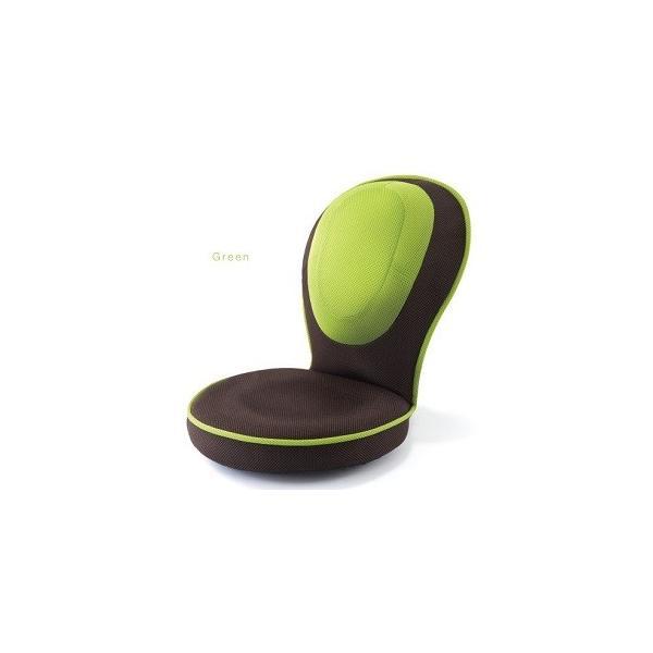 座椅子 背筋がGUUUN美姿勢座椅子コンパクト グリーン 座椅子 姿勢 おしゃれ|maone|02