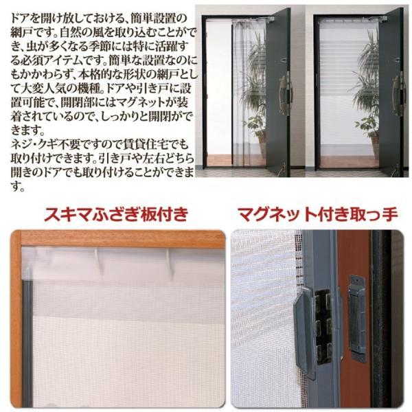 網戸 虫除け対策 簡単網戸 玄関 maone 02