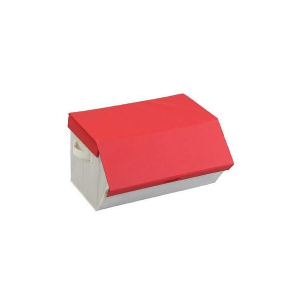 収納ケース たためるスタッキングボックス レッド 衣類収納|maone