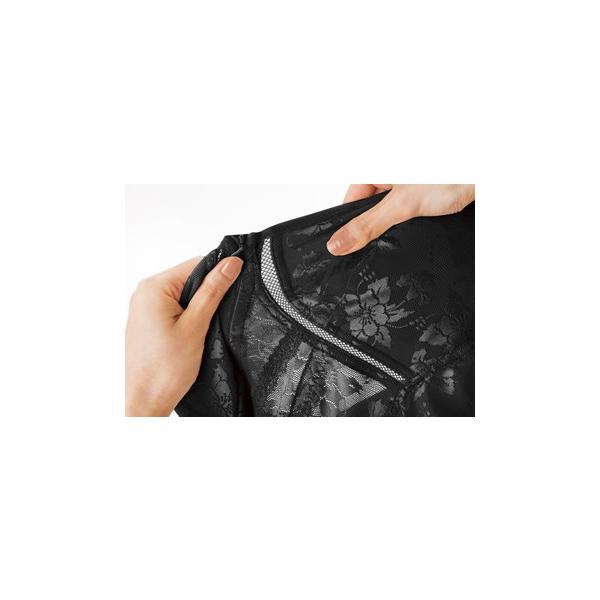 補正下着 ドレスアップ姿勢フィットボディスーツ ブラック M-L ボディスーツ|maone|06