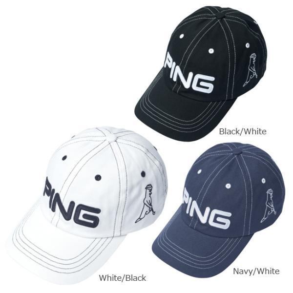 PINGピンゴルフキャップメンズコットンアンストラクチャー6パネルMr.PING日本正規品ゴルフ用品帽子ピンゴルフ()