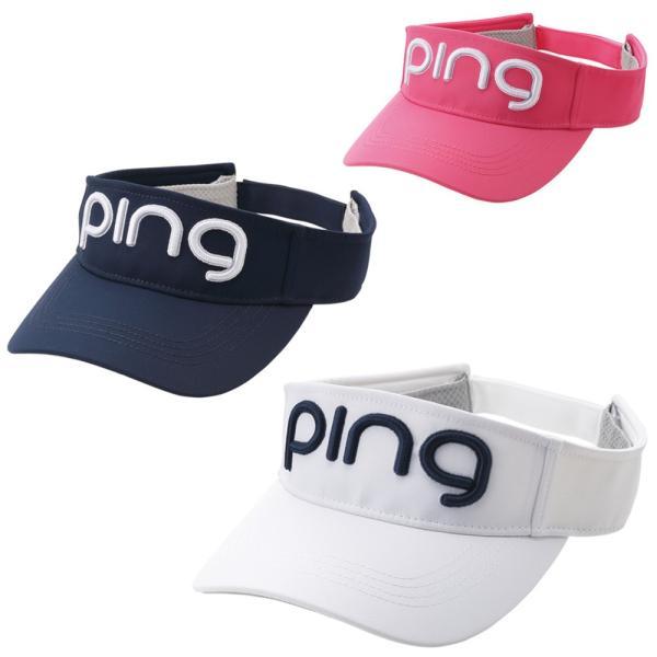 PINGピンゴルフサンバイザーレディースツアーバイザーHW-L202日本正規品ゴルフ用品帽子キャップピンゴルフ()