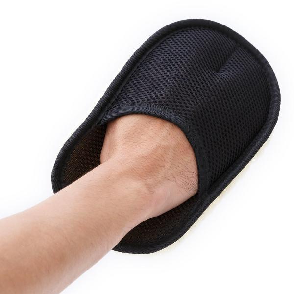 銀座大賀靴工房 靴磨きクロス ムートン グローブクロス(スムースレザー専用ポリッシンググローブ)