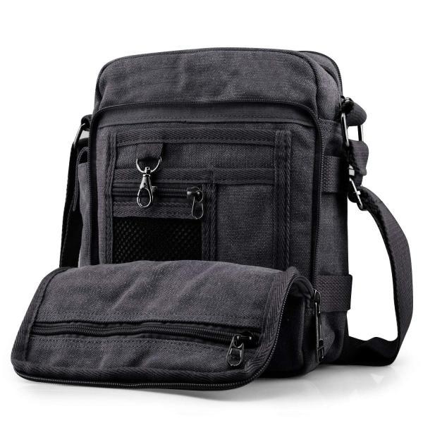 SPAHER(スバヒァ)ショルダーバッグ キャンバスバッグ ズック鞄 カンバスかばん 帆布生地 カジュアル 斜めがけ 多機能|mapletreehouse|02