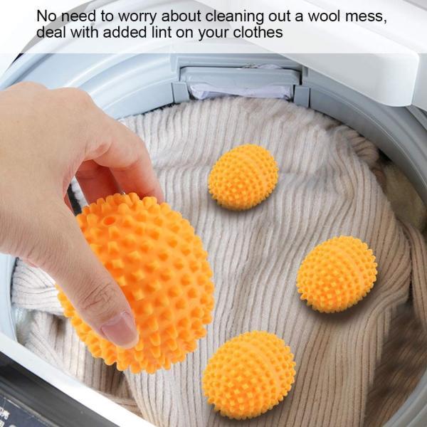 ドライヤーボール 乾燥機用ボール 洗濯ボール 4個入り ソフナー 静電気防止 繰り返し使用可能