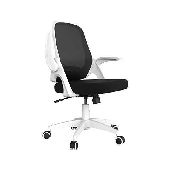 Hbada 椅子 オフィスチェア デスクチェア イス 跳ね上げ式アームレスト コンパクト 約120度ロッキング 360度回転 座面昇降 強化|mapletreehouse
