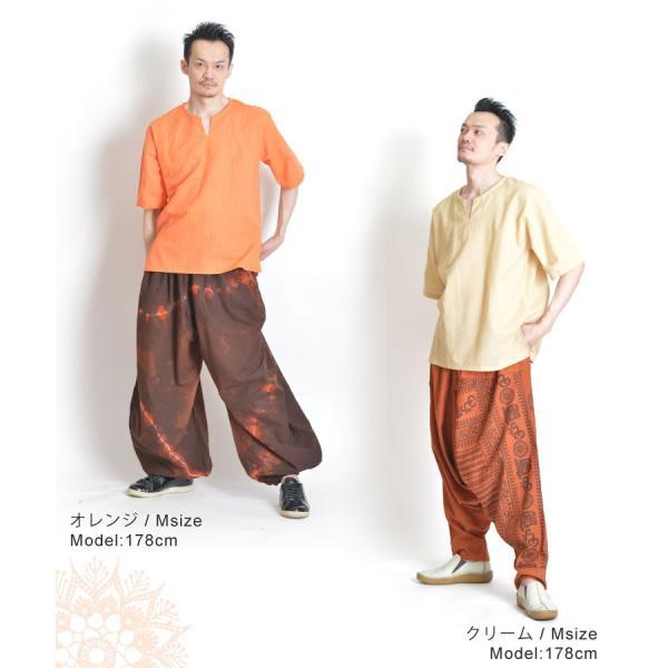 カットソー 半袖 Tシャツ レディース 5分袖 大きいサイズ コットン キーネック プルオーバー メンズ オリジナル ストライプ織り marai 13
