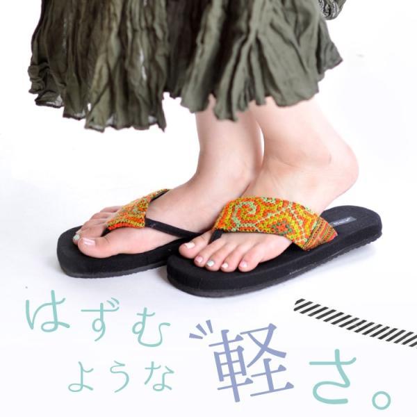 サンダル レディース 春 夏 瞬足 メンズ 履きやすい 疲れない ビーチサンダル 厚底 モン族 刺繍 大きい メール便|marai|04