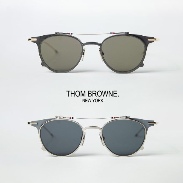 トムブラウン THOM BROWNE TBS-814 ボストンフレーム 跳ね上げサングラス 49サイズ メガネ 伊達 度付き