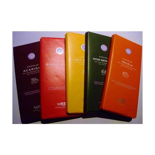 高級フランス板チョコレート (タブレット)セット商品がこの価格! 100g×5種