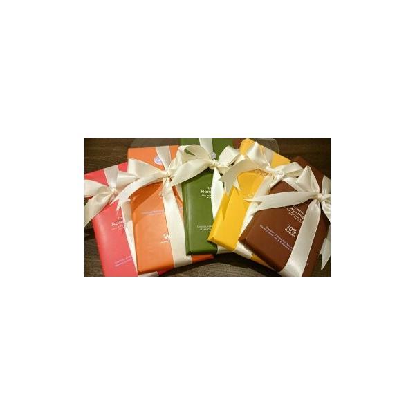 高級フランス板チョコレート(タブレット)セット 100g×5種 ギフト用