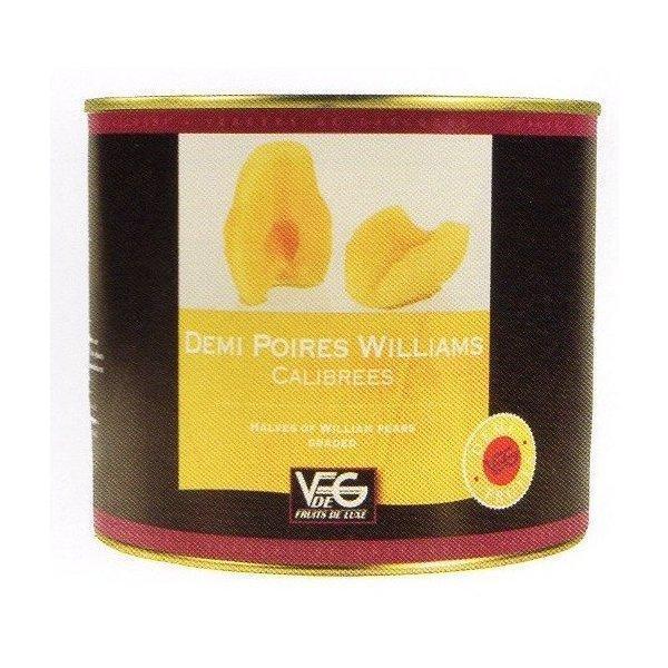 フランス産フルーツの缶詰(ポワール・ウイリアム)洋ナシ1/2カット フランス コートリヨネ 2125g×6缶 業務用