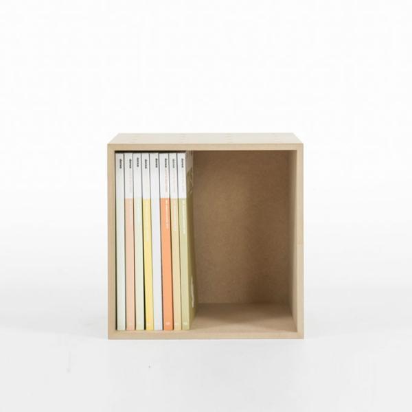 オフィス雑誌ラック オフィス収納 木製 本棚 おしゃれ ボックス マガジンラック A4より少し大きめ収納|margherita|03