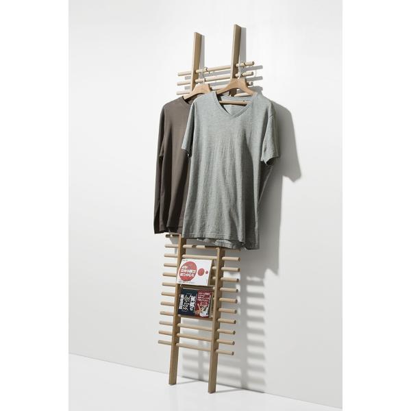 ラダーラック 木製 梯子シェルフ 立て掛け デザイン|margherita