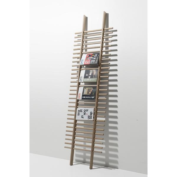 ラダーラック 木製 梯子シェルフ 立て掛け デザイン|margherita|02