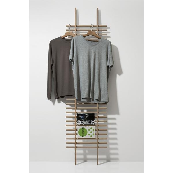 ラダーラック 木製 梯子シェルフ 立て掛け デザイン|margherita|04