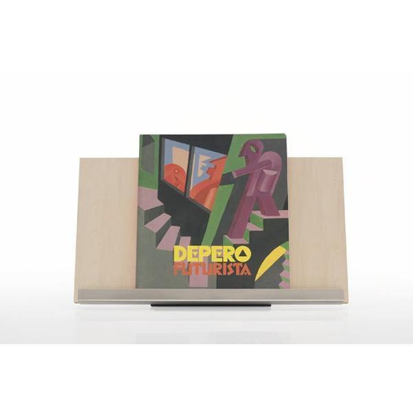ブックスタンド 書見台 木製 おしゃれ 本立て W450 ディスプレイ台 展示什器 A4サイズ 2冊分 Piega ピエガ