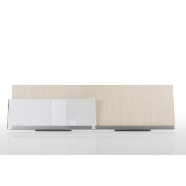 ブックスタンド 木製 書見台 おしゃれ 本立て W900 ディスプレイ台 展示什器 A4サイズ 4冊分 Piega ピエガ