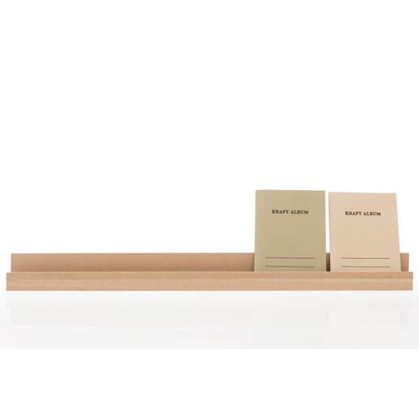 書見台 木製 ブックスタンド カタログスタンド おしゃれ 卓上 横 1段 本立て 90cm ディスプレイスタンド Desktop Organizer