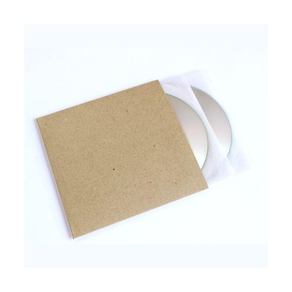 CD用厚紙ジャケット 背付き クラフト茶