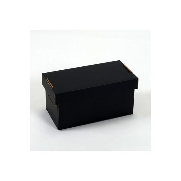 CD用 蓋付き 段ボールボックス(黒) 5枚セット/CD-041|margherita