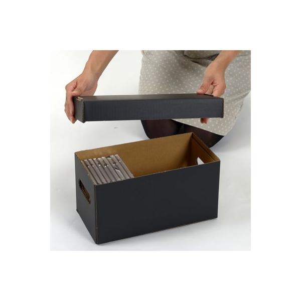 CD用 蓋付き 段ボールボックス(黒) 5枚セット/CD-041|margherita|02