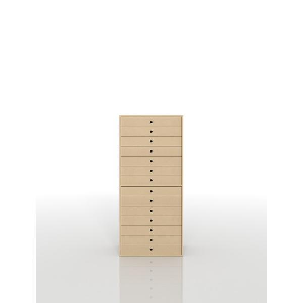 書類棚 A3 引き出し収納 木製 14段 書類 図面 整理 マップケース オフィス 事務所 家具