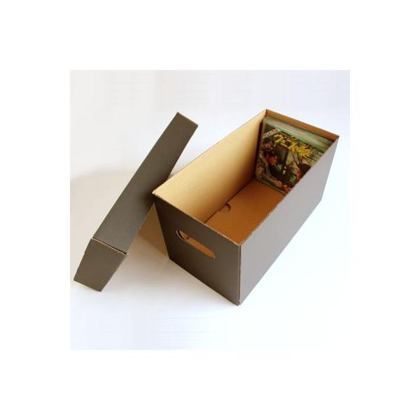 EPレコード用 段ボールボックス 蓋付き 黒 2箱セット/EP-008-BL margherita