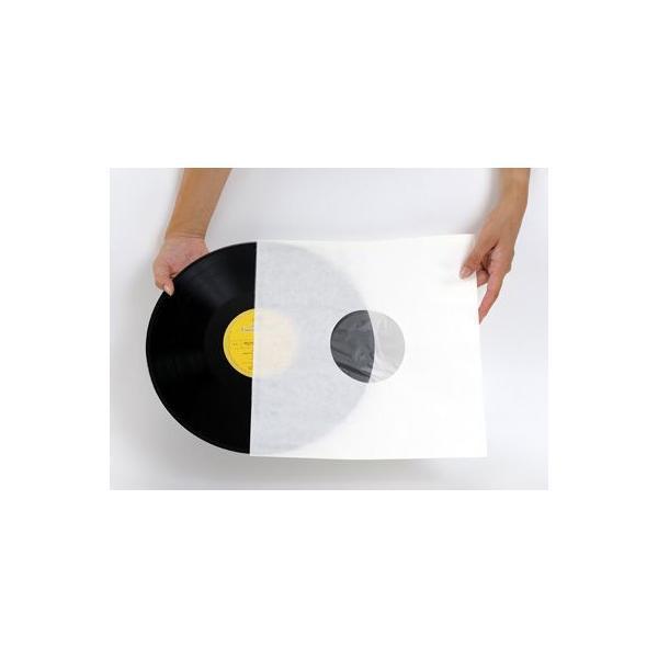 LPレコード用 インナージャケット 紙製 内側ポリ付き 50枚セット/LP-011|margherita|02