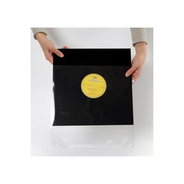 LPレコード用 ジャケットカバー PP製 厚口 ジャストサイズ 500枚セット/LP-017|margherita|02