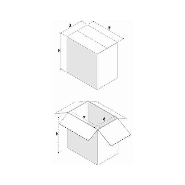LPレコード用 段ボール箱 50枚用 縦置き 10箱セット/LP-026|margherita|03
