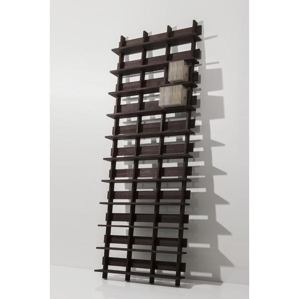 CDシェルフ ラック (天然木集成材) 収納ラック シェルフ棚 木製 大容量 500枚|margherita