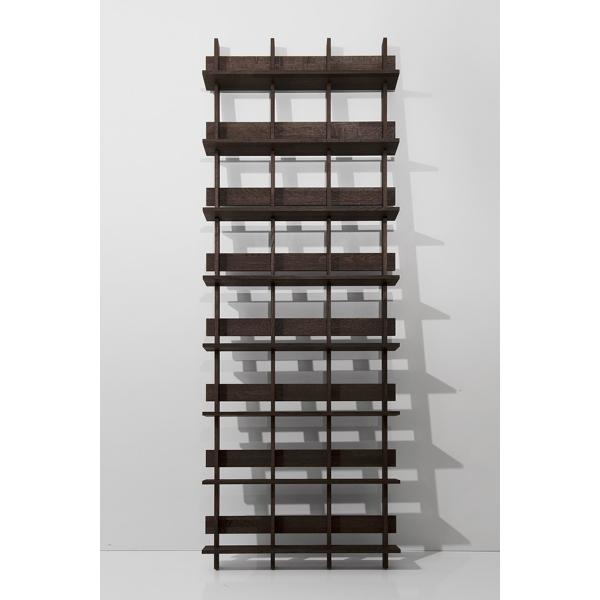 ディスプレイ収納 DVDシェルフ (天然木集成材) 収納ラック 木製 大容量 300枚|margherita|04