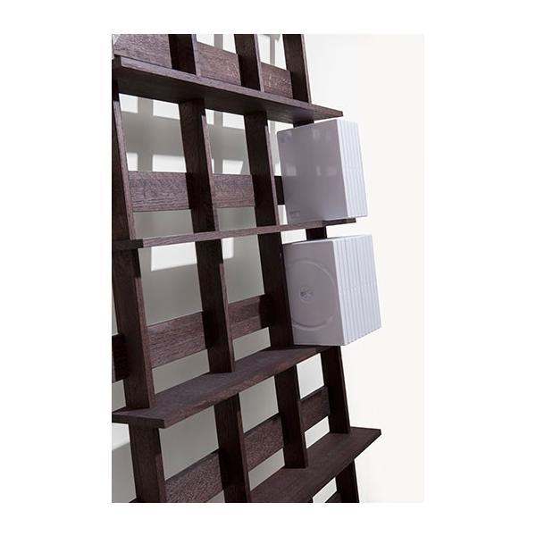 ディスプレイ収納 DVDシェルフ (天然木集成材) 収納ラック 木製 大容量 300枚|margherita|06