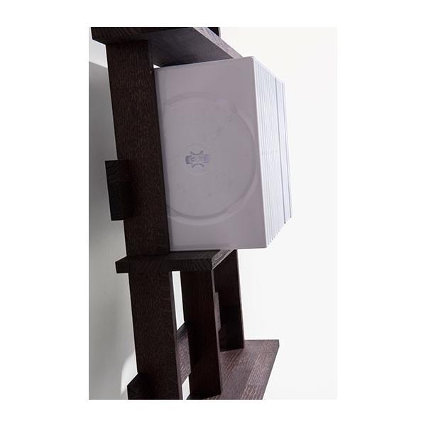 ディスプレイ収納 DVDシェルフ (天然木集成材) DVD収納ラック シェルフ棚 木製 シンプル 200枚|margherita|07