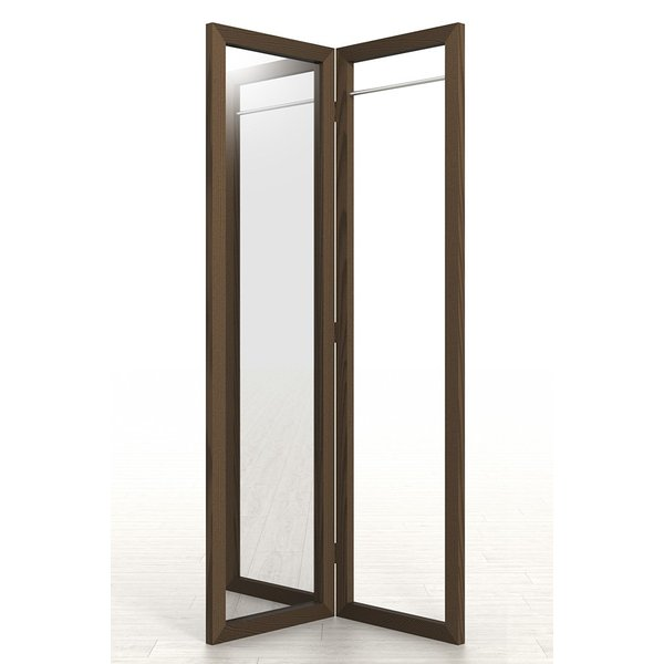 姿見鏡 おしゃれ ハンガーラック付き 1段タイプ 全身鏡 全身姿見鏡 ダークブラウン 180 大型 デザイン margherita