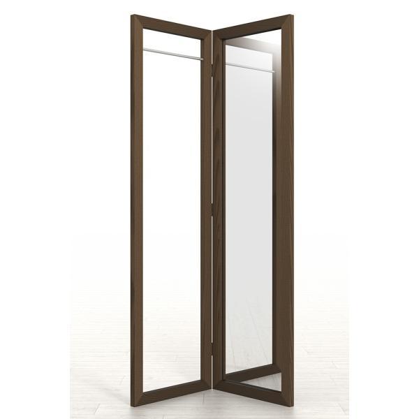 姿見鏡 おしゃれ ハンガーラック付き 1段タイプ 全身鏡 全身姿見鏡 ダークブラウン 180 大型 デザイン margherita 04