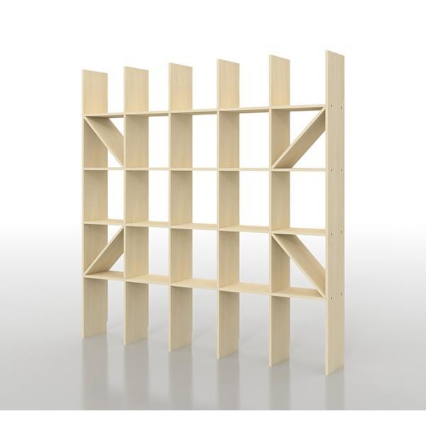 壁面収納家具 本棚 壁面書棚 壁一面 オープンラック 梁下まで A4サイズより少し大きめの本、雑誌 高さ180cm 奥行230mm|margherita|02